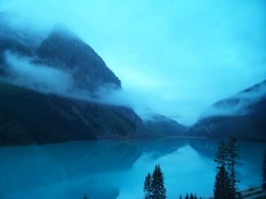 Lake Louise in the morning. View from our room. Photo: Tonya Fitzpatrick