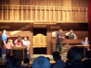 Lumberjack show along the Rockie Mountaineer trail. Photo: Tonya Fitzpatrick
