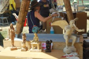 Wooden sculpture at the Smithsonian Folklife festival that featured Colombia. Photo by Tonya Fitzpatrick