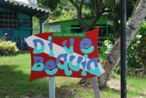Dive Bequia sign photo by Tonya Fitzpatrick