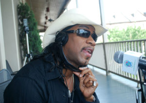 Rocking Dopsie Jr. during an interview on World Footprints