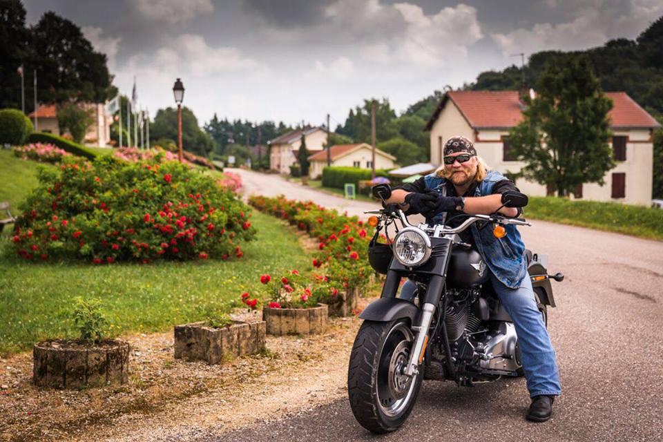 Stan Ellsworth on his Harley