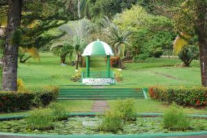The historical botanical garden on St. Vincent.