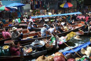 Bangkok, Thailand floating market