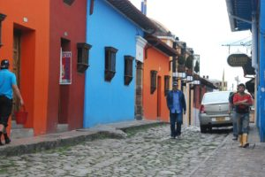 Along a street near Bogota, Colombia. Photo: Tonya Fitzpatrick
