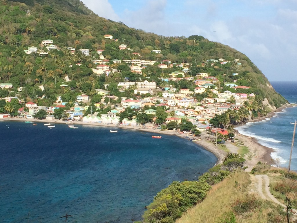 Above the Dominica fishing village