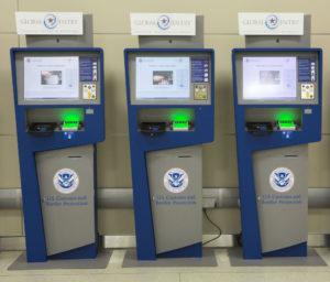 Global Entry kiosk.