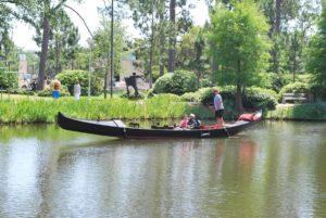 Gondola-ride-in-the-New-Orleans-Museum-of-Art-Sculpture-Garden. Photo: Tonya Fitzpatrick