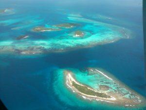 Flying over the Grenadine Islands. Photo: Tonya Fitzpatrick