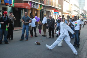 New Orleans street entertainer.