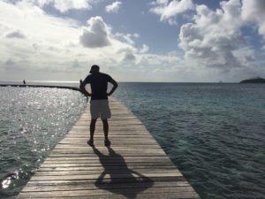 Ian reflects on the water. Photo: Tonya Fitzpatrick
