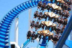 Thrillseekers riding The Gatekeeper at Cedar Point. Photo: Tonya Fitzpatrick