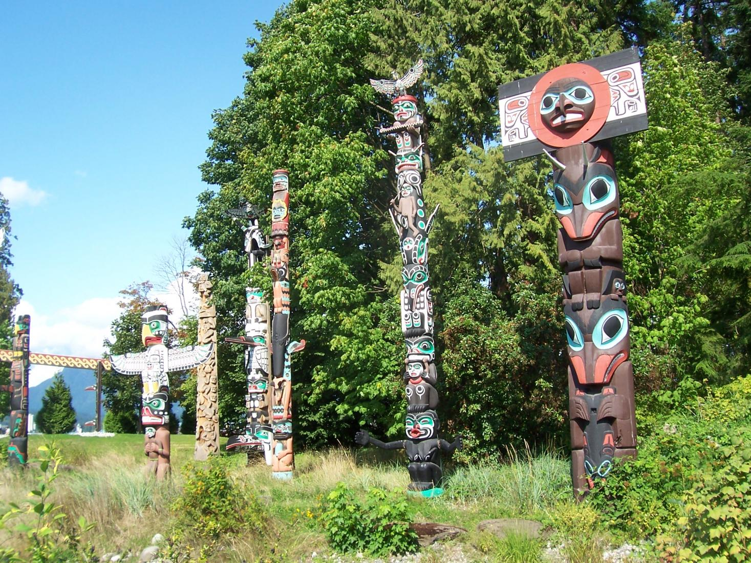 Totem Poles of the First Nations in Vancouver, Canada. Photo: Tonya Fitzpatrick