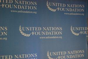 UN Foundation banner. Photo: Tonya Fitzpatrick