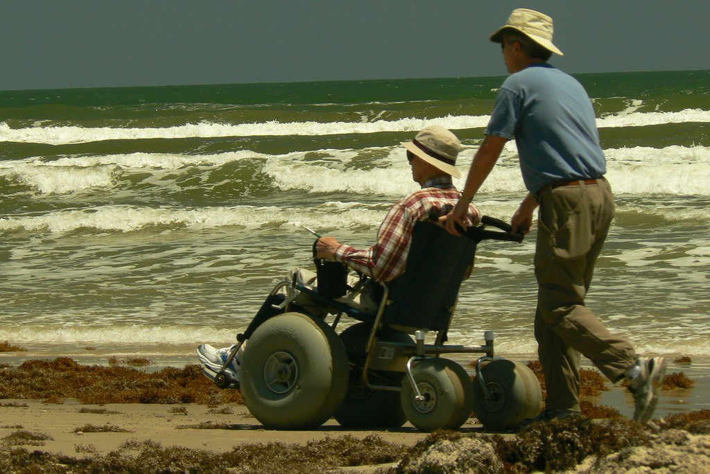 Accessible Travel on the Beach.  Photo: Terry Ross