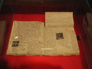 Anne Frank's diary on diplay