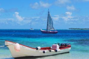 Boats at Tobago Cays. Photo: Tonya Fitzpatrick