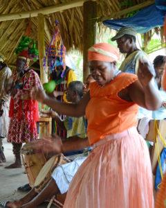 Garifuna dancers and musicians.