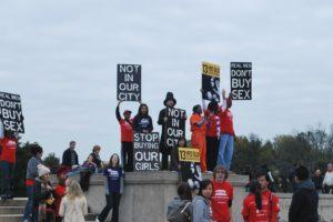 Stop Modern Slavery walk at the Lincoln Memorial.  Photo:  Tonya Fitzpatrick