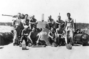 John F. Kennedy aith crew of PT-109
