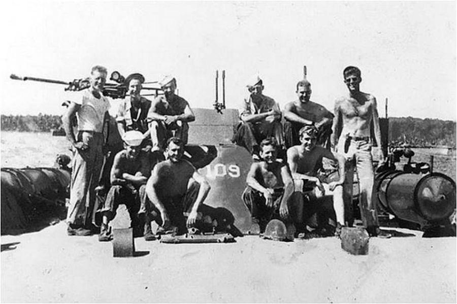 John F. Kennedy aith crew of PT-109