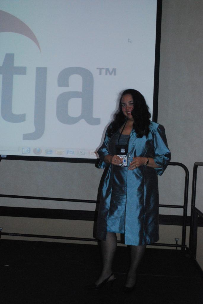 Tonya accepts the 2009 NATJA award