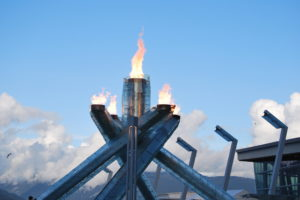Olympic Flame in Vancouver.  Photo:  Tonya Fitzpatrick