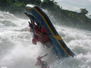 Rafting on the White Nile.