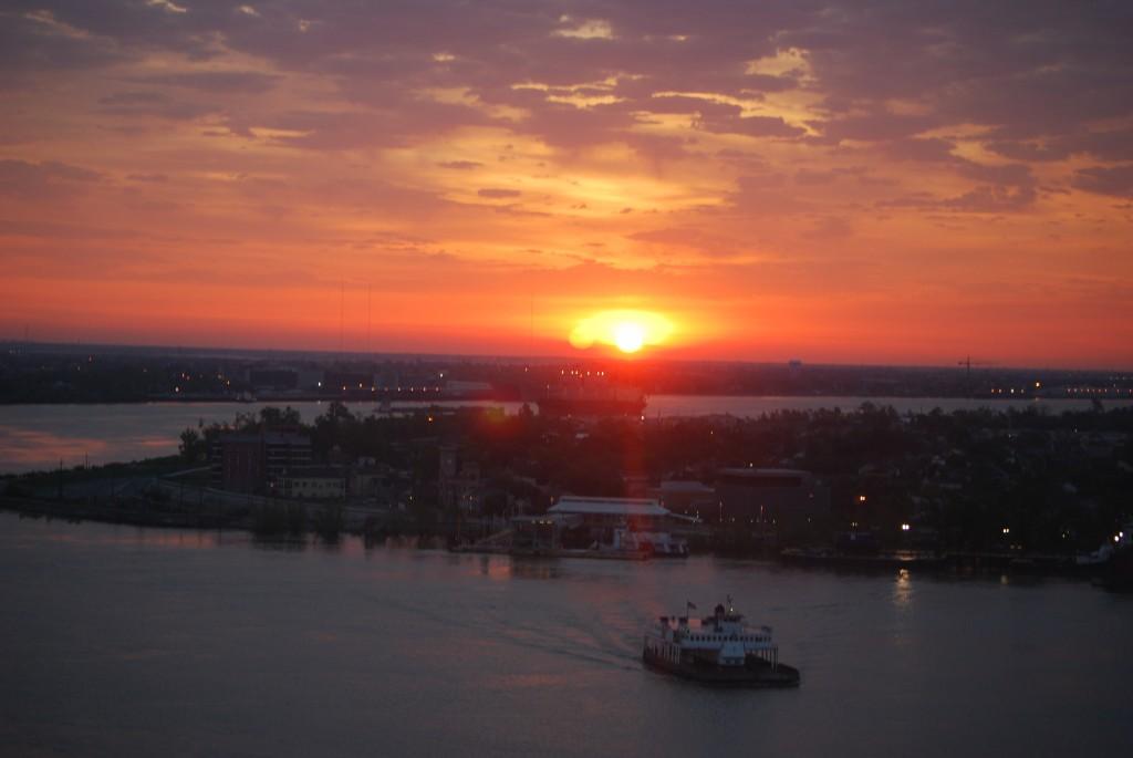 Over the Mississippi River