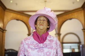 Wax figure of civil rights icon Dorothy Height.