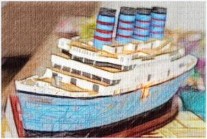 Titanic drawing.  Photo:  Manuel