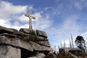 Cross at Trojmezi.  Photo:  Donald Judge
