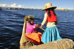 Traveling by boat through Bolivia