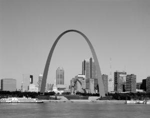 Gateway arch in Saint Louis