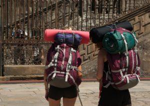 Backpack travelers