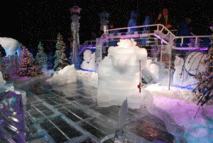 ICE! brings our favorite stories to life with 2 million carved ice blocks every year at Christmas on the Potomac in Maryland. Photo: (c) Tonya Fitzpatrick