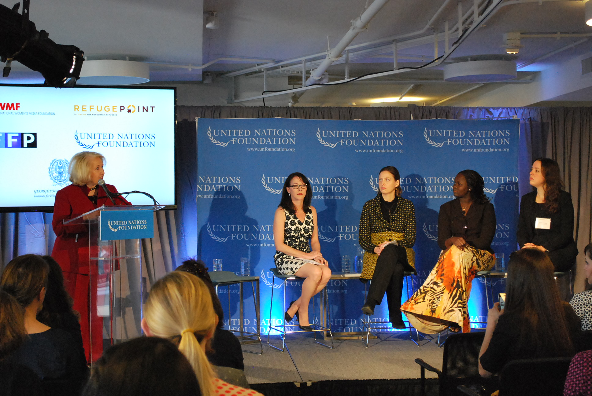Panel sitting on the UN Foundation's Women in Fragile States event. Photo: Tonya Fitzpatrick