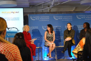 UN Foundation event Women in Fragile States with panel and moderator. Photo: Tonya Fitzpatrick