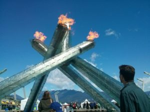 Vancouver Olympic flame photo by Tonya Fitzpatrick