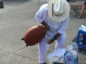 "Stopping for a ""drink"" along the boardwalk in Puerto Vallarta. Photo: Tonya Fitzpatrick"