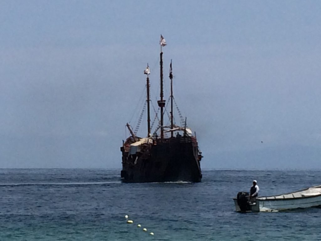 Pirate boat in Puerto Vallarta