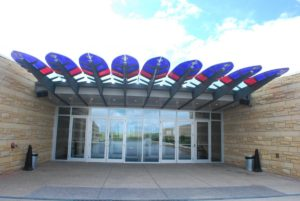 Entrance to Blackfoot Crossing Visitor Center. Photo by Tonya Fitzpatrick