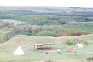 A teepee camp. Photo: Tonya Fitzpatrick