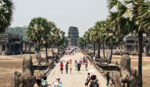 Tourists in Cambodia