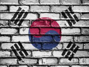 Mural of South Korean flag