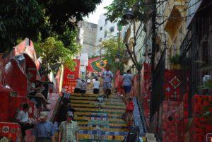Decorative stairs in Lapa, Rio de Janeiro. Photo: Tonya Fitzpatrick