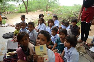 Volunteer travelers in India