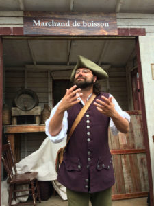 Old World wine merchant at New France Festival. Photo: Tonya Fitzpatrick