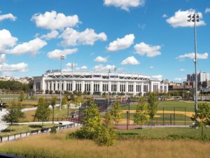 Yankee Stadium and Heritage Field. Photo by: Rich Michell (WikiCommons Sept. 2012)