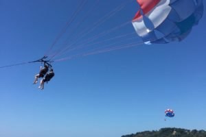 Costa Rica parasailers. Photo: Eliza Amon
